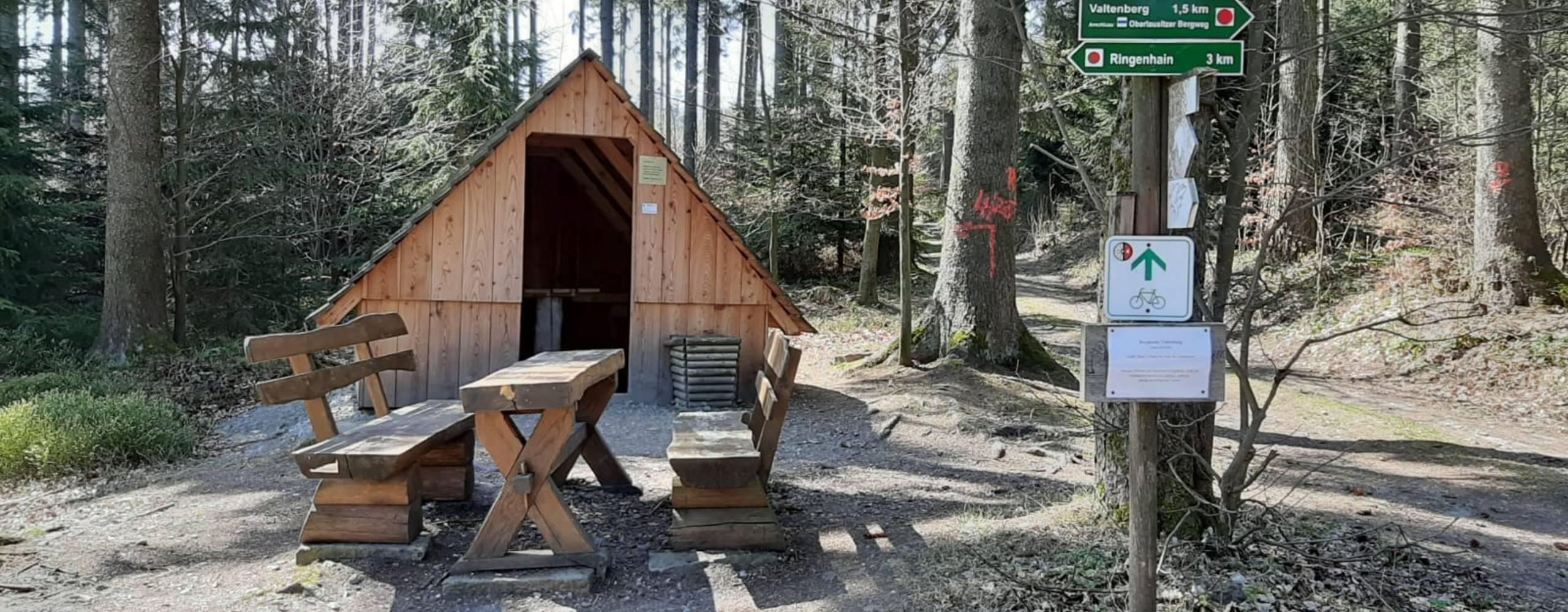 schutzhütte 2 ©Schutzhütte auf dem Weg zum Valtenberg Fotograf: Gemeindeverwaltung Neukirch/Lausitz